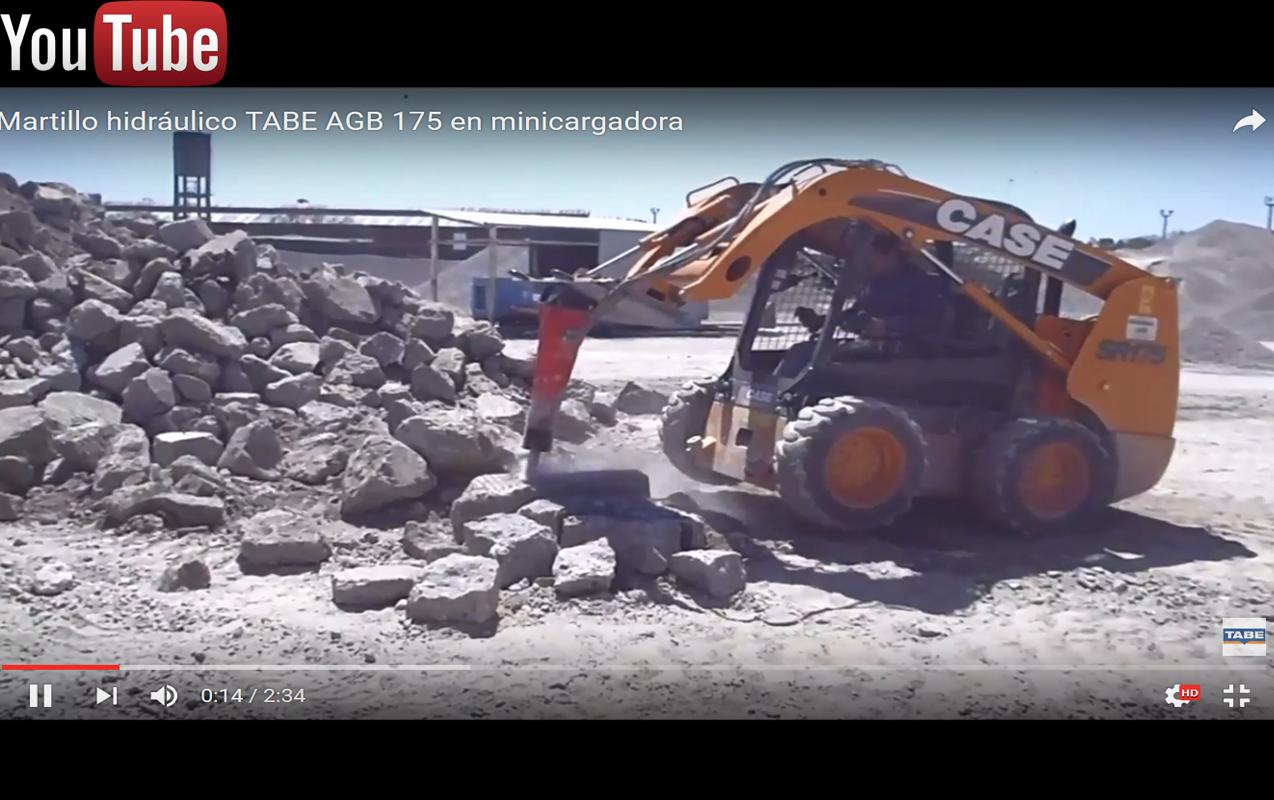 Martillo hidraulico tabe agb 175